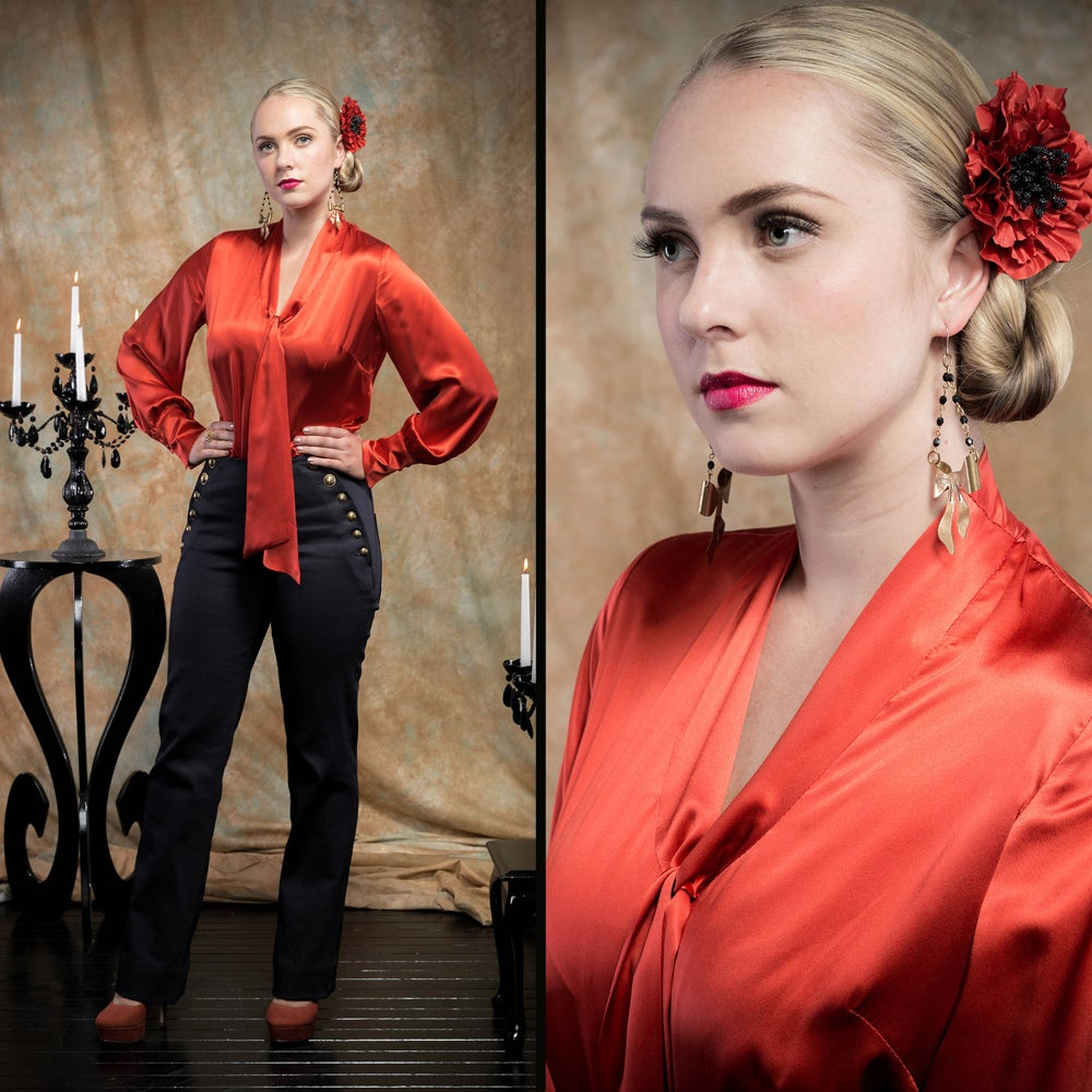 Image of ESPERANZA SILK BLOUSE (other options available)