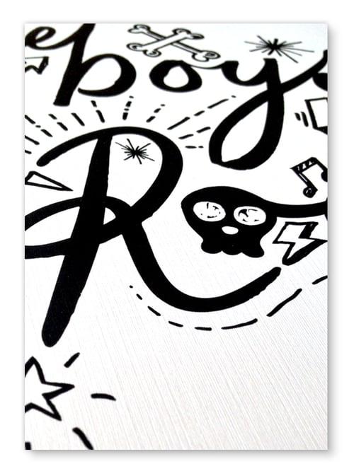 Image of Boys Rock A4 or A3 art print