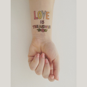 Image of Peace and Love Tattoos