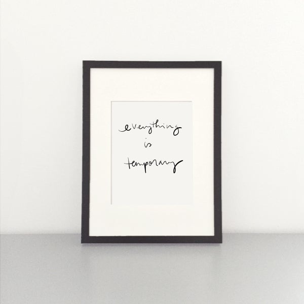 Image of Temporary Art Print