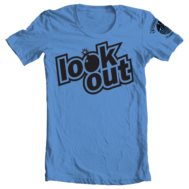 Image of 2015 Lookout Bomb Logo T-Shirt INDIGO