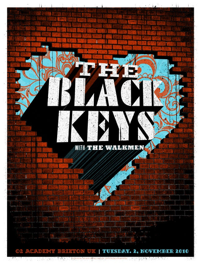 Image of Black Keys Brixton Mini Print