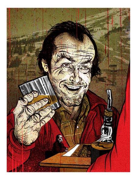 Image of Drinking Buddies: Jack MIni Print