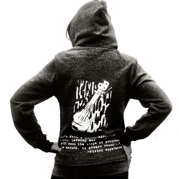 Image of Rising Appalachia - Eco Black Banjo Hoodie - Mens/Womens