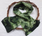 Image of Gum Leaves - Habotai Silk Scarf