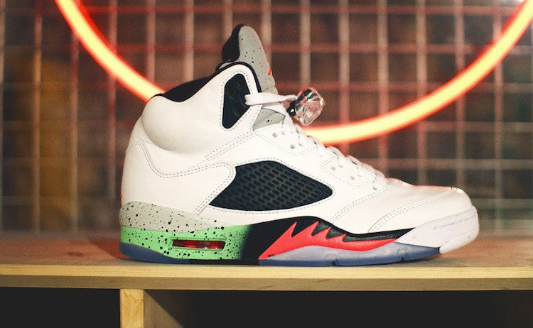 d67e2c0018f7 Jordan Retro 5 Space Jam Poison Green   SideKicks LLC