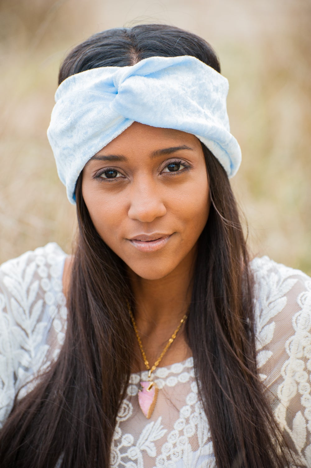 Image of Luxe Velvet Turban Pale Blue