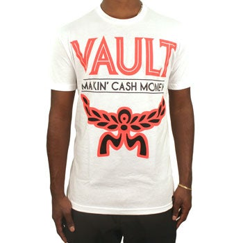Image of MCM Tee (White/Infrared/Black)