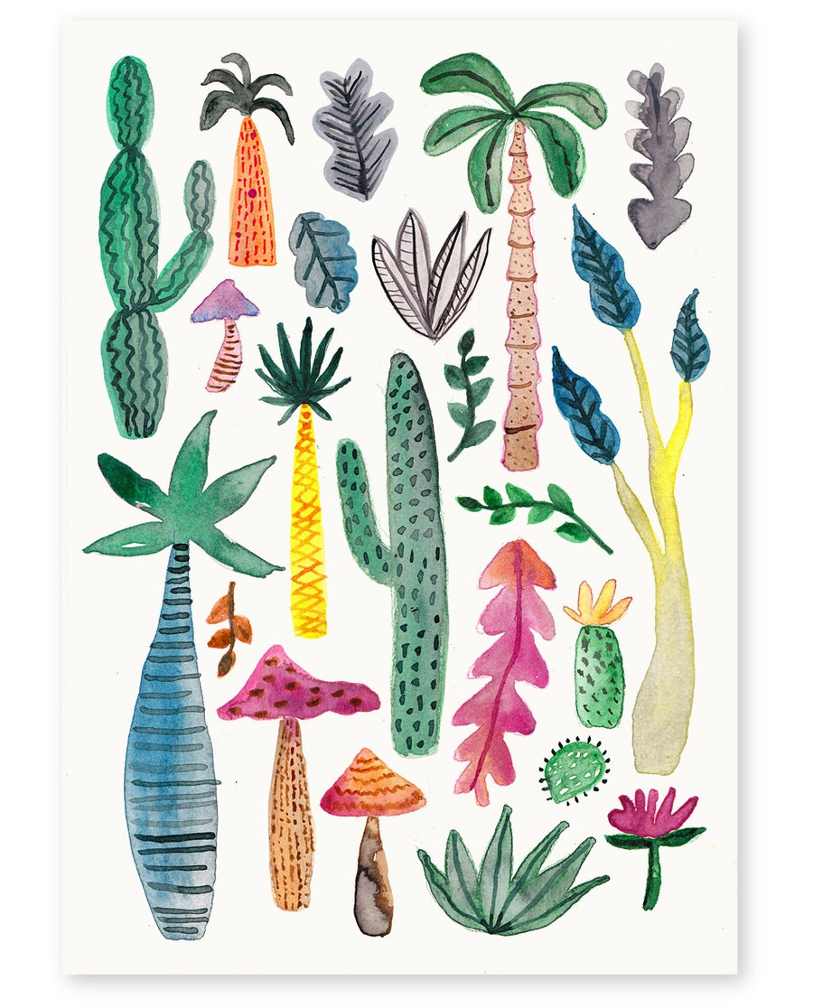 Image of 'Inky Garden' Art Print