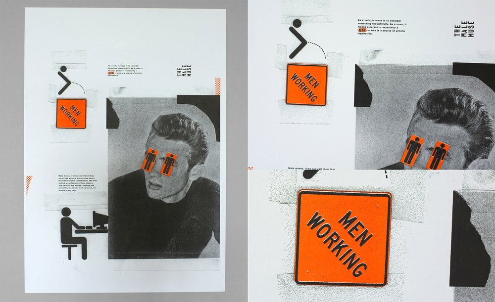 Image of The Male Muse - Riso Print