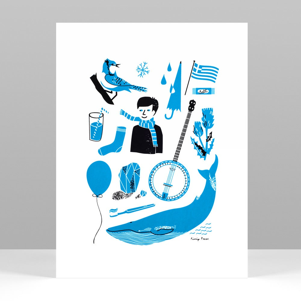 Image of Primary Blue Silkscreen print