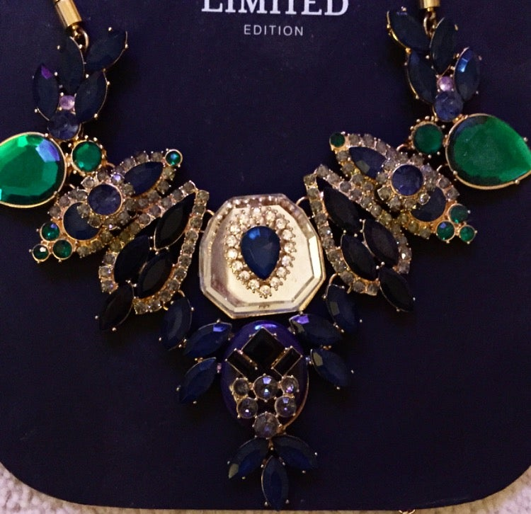 Image of Gem Embellished Dress Necklace