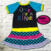 Image of **SOLD OUT** One Of A Kind double ruffle Dress - size 3/4
