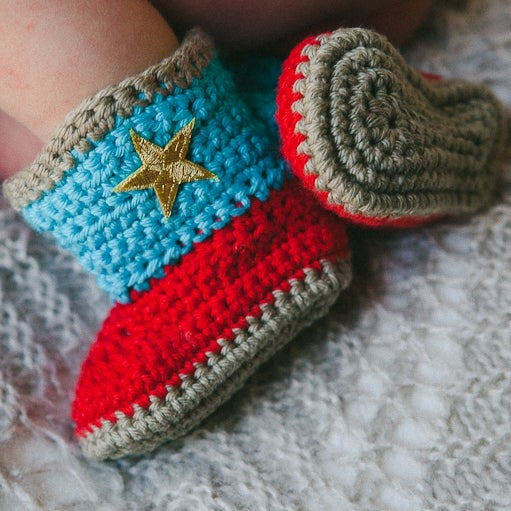 Image of Crochet Cowboy Boots