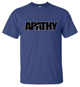Image of Apathy Classic Logo - Blue Tee
