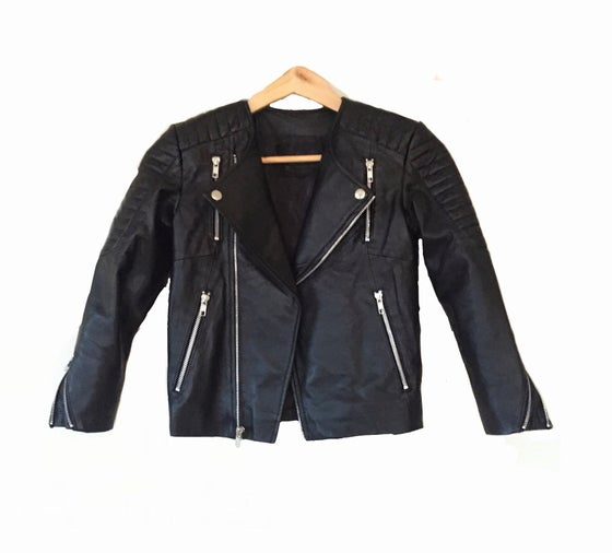 Image of Zali unisex Leather  Jacket -CHILD and ADULT sizes