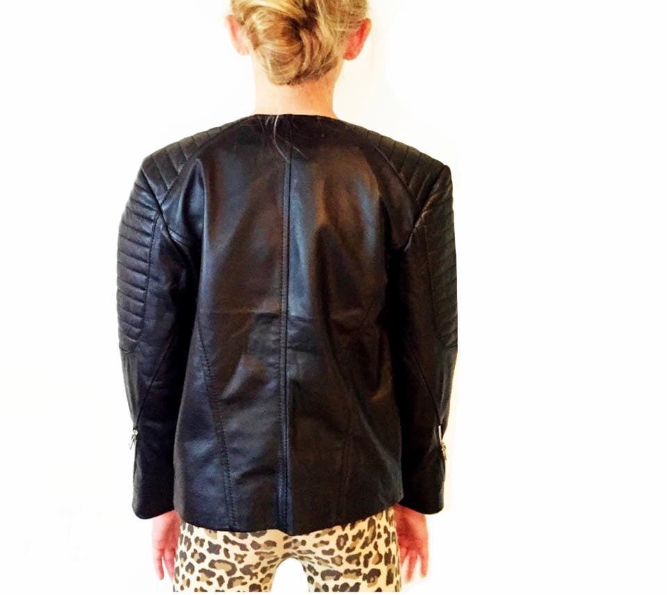 Image of Zali unisex Leather  Jacket -CHILD and ADULT sizes