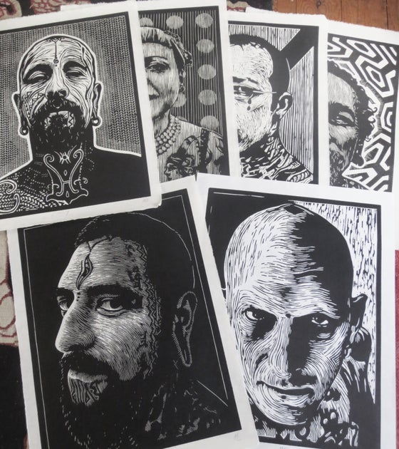 Image of woodcut portraits