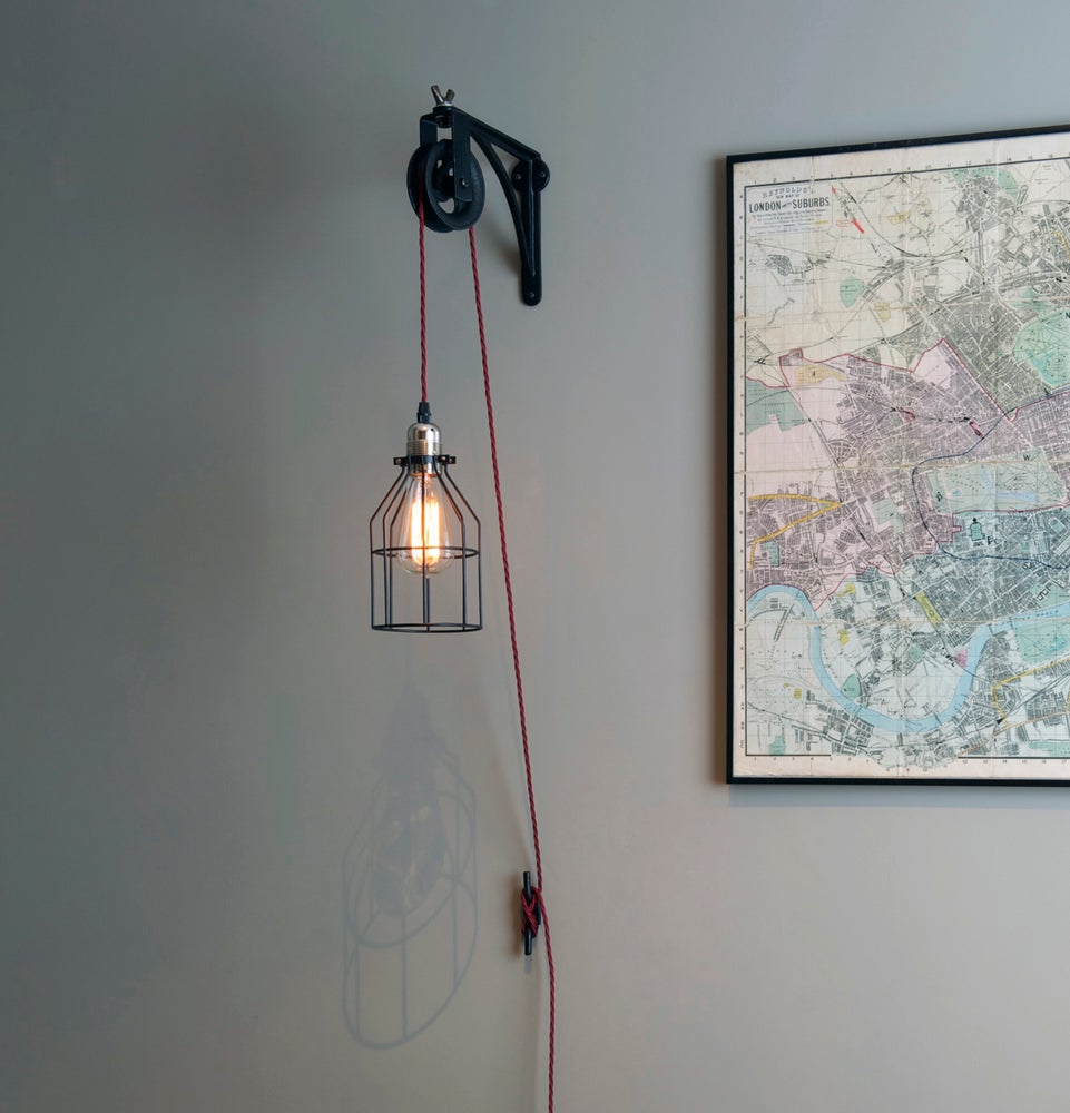 Image of Vintage Wall Mounted Industrial Pulley light