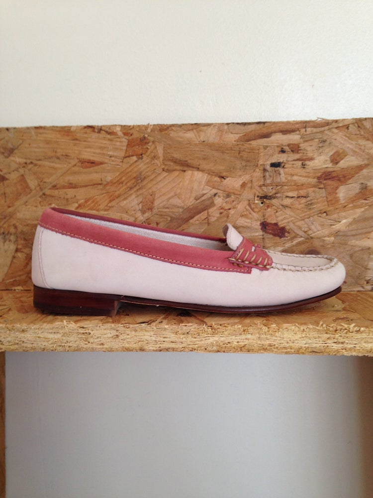 1ec861b1f8e Image of LADIES DEADSTOCK BASS WEEJUNS PINK LOAFERS. UK 4.5 4 US 6.5