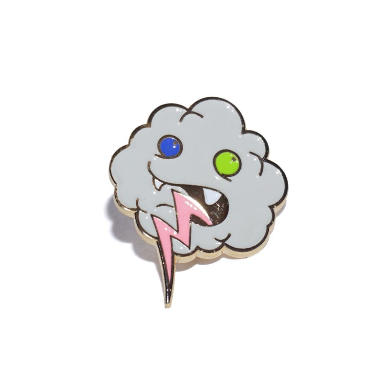 "Image of 1"" Gold Lightning Tongue Pin"