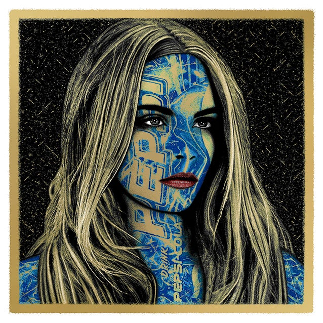 Image of PEPSI:CARA - metallic GOLD edition - 2 prints left