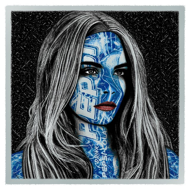 Image of PEPSI CARA - metallic SILVER edition - 1 print left