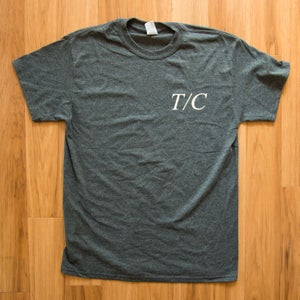 Image of T/C EMBLEM SHIRT - BLUE/GREY