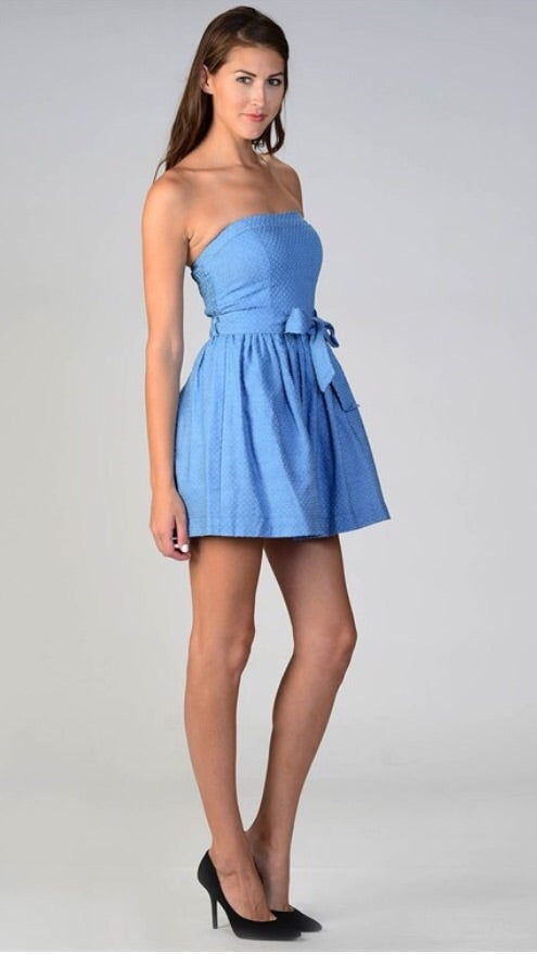 Image of Denim Tube Dress