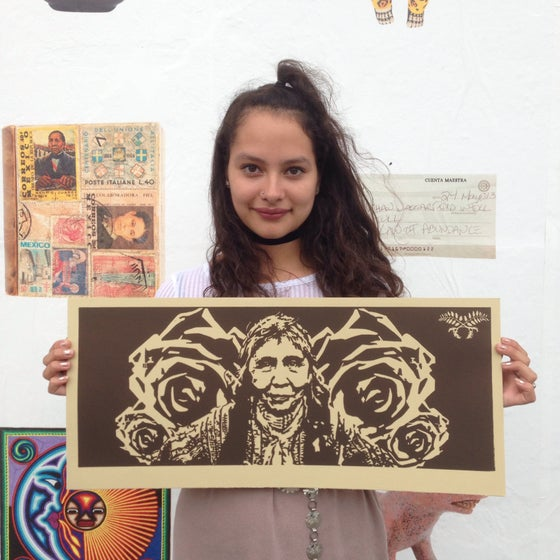 Image of Decolonizing Street Art Mural Woodcut