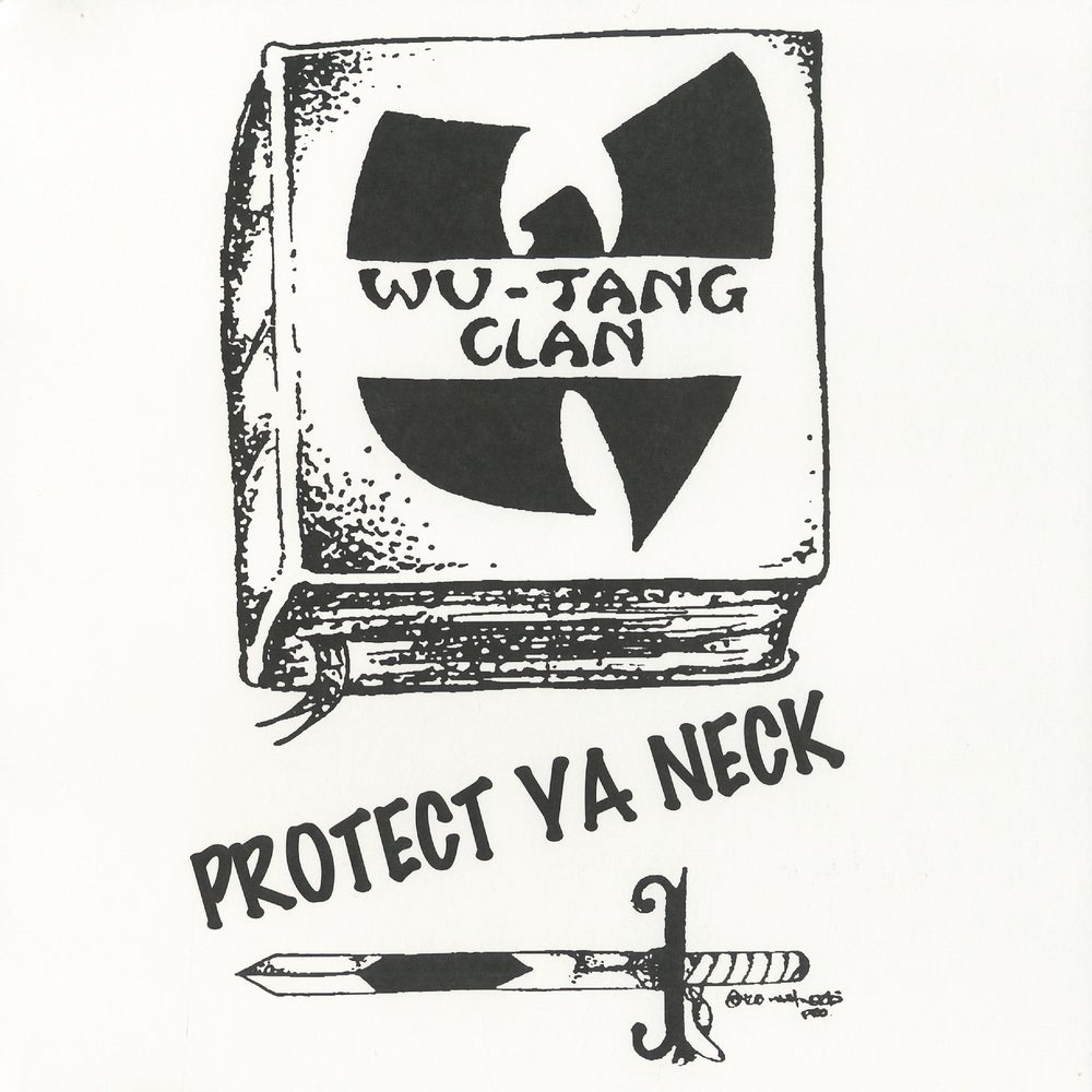 Image of WU-TANG CLAN-PROTECT YA NECK/MEDTHOD MAN (SPLIT COLOR YELLOW & BLACK VINYL)