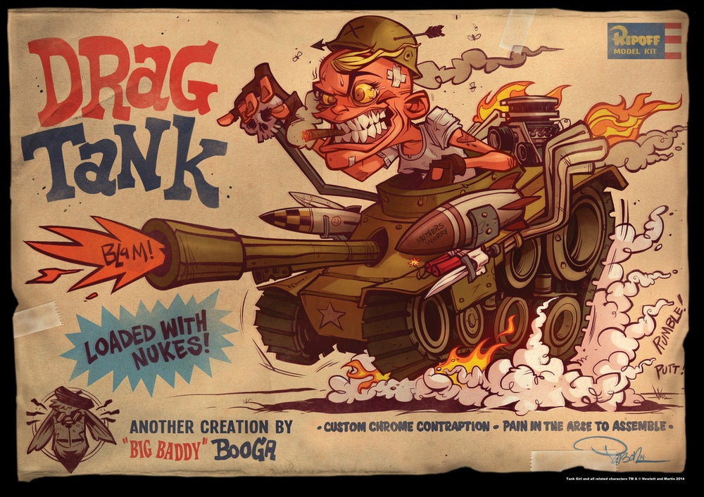 Image of 21st Century Tank Girl Poster Magazine Special (with sampler)