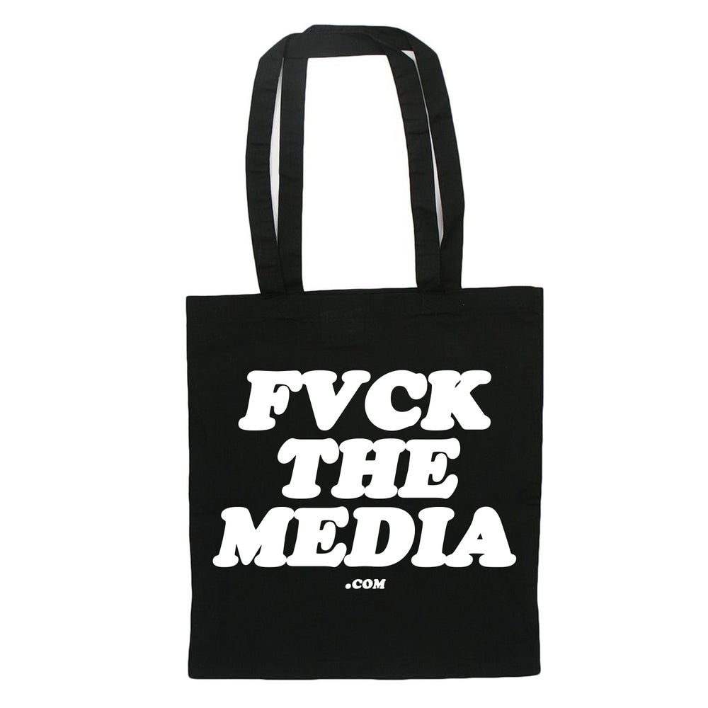 """Image of """"FVCK THE MEDIA"""" TOTE BAG"""