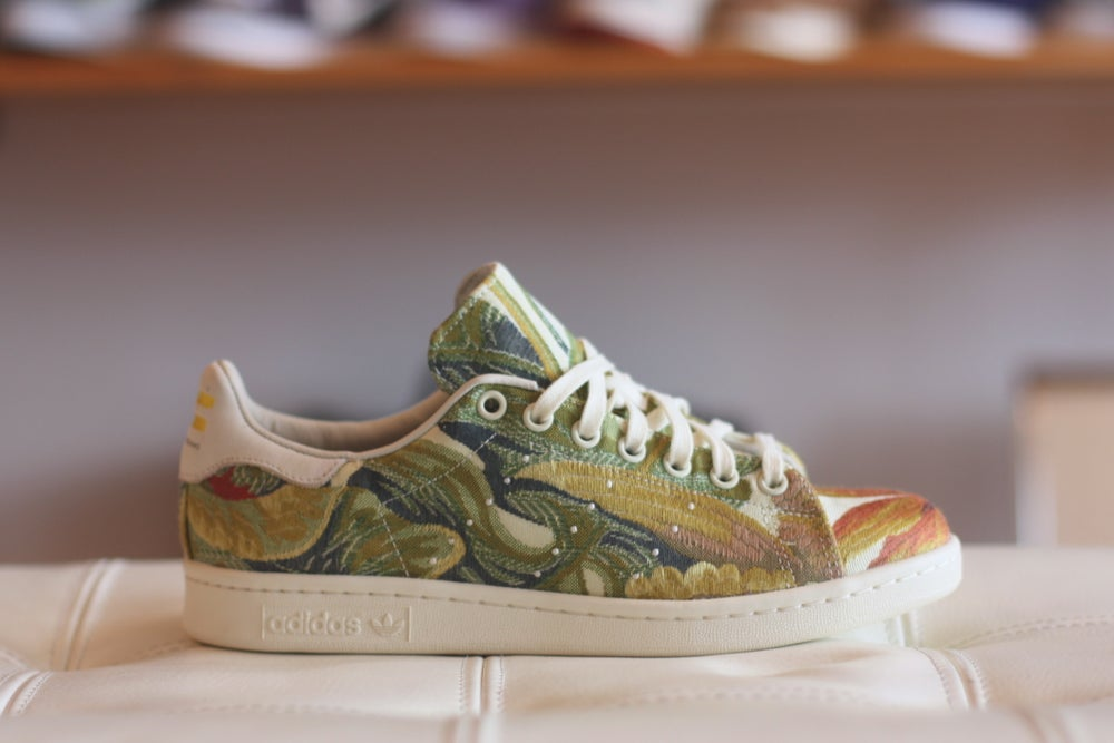 "Image of ADIDAS STAN SMITH PHARRELL WILLIAMS JACQUARD ""GREEN"" B25383"
