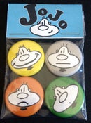 """Image of JoJo """"Faces"""" Series 1 Limited Edition Button Pack"""