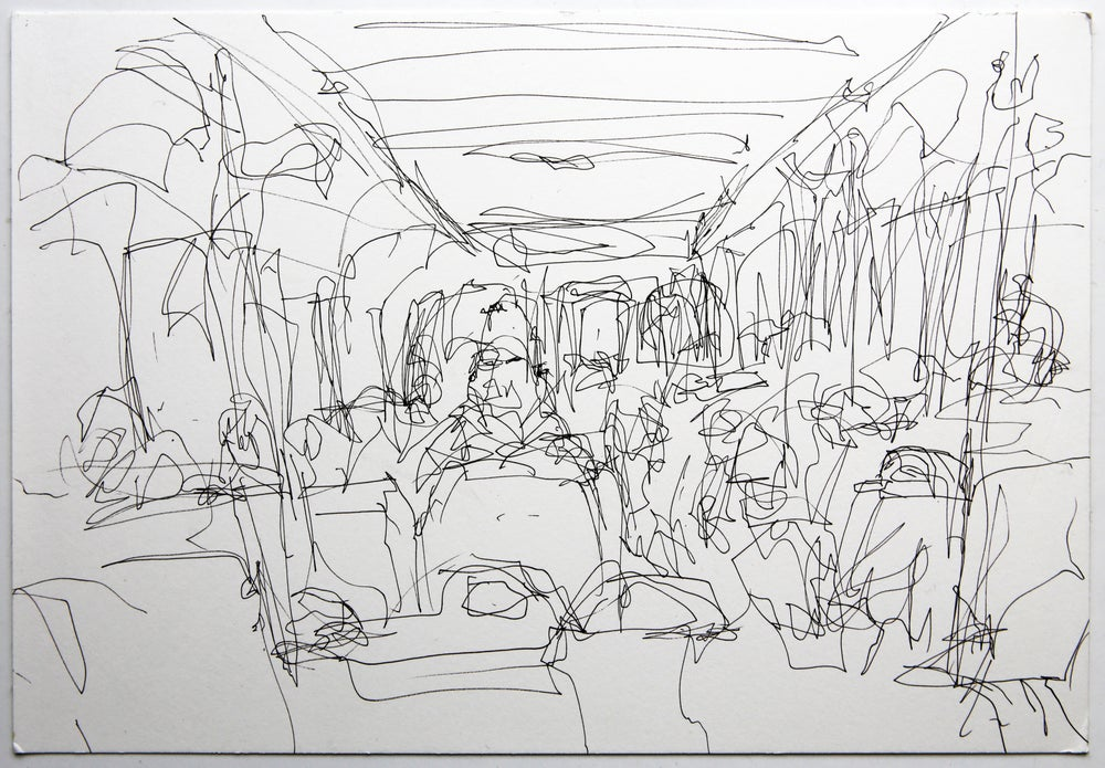 Image of Small Blind Train (3) 2010, A4 size