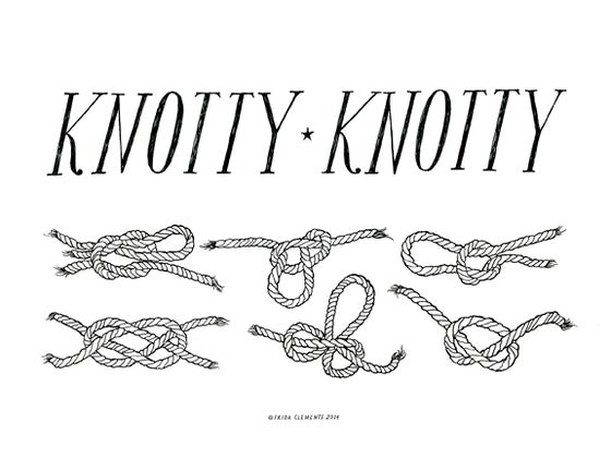Image of Knotty Knotty / Mini Print