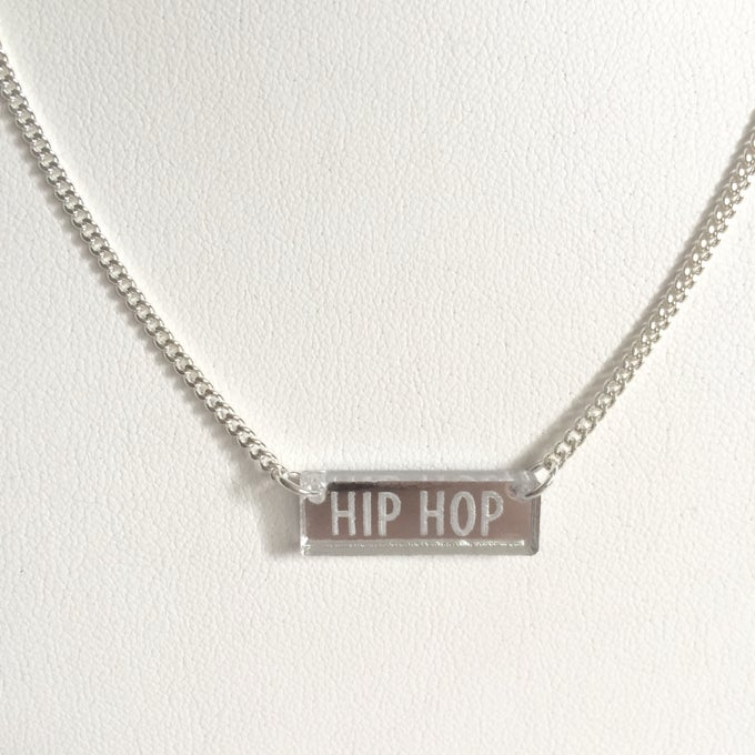 Image of Custom CLASSIC SILVER BAR Necklace