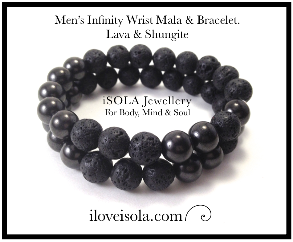 Image of Men's Infinity Shungite & Lava