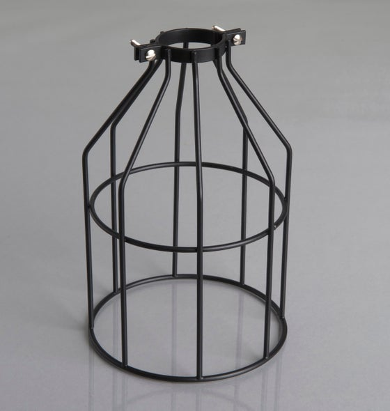 Image of Vintage Black Metal Cage Guard.