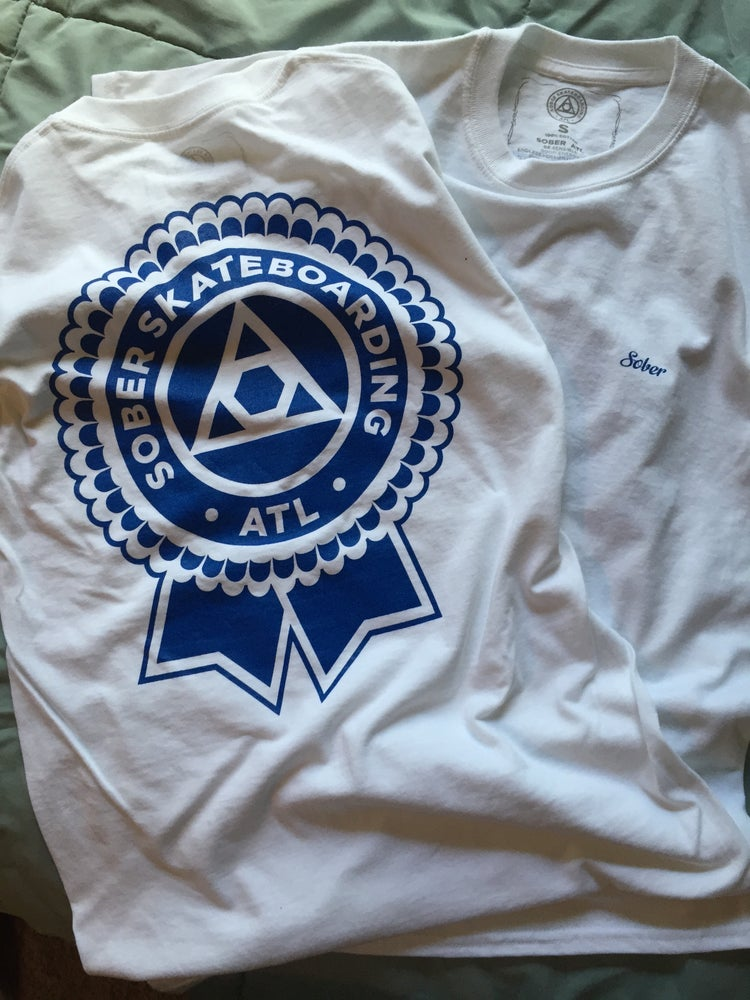 Image of Sober Blue Ribbon Tee