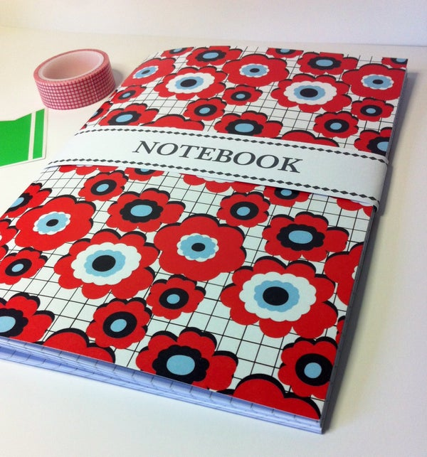 Image of Red flower notebook