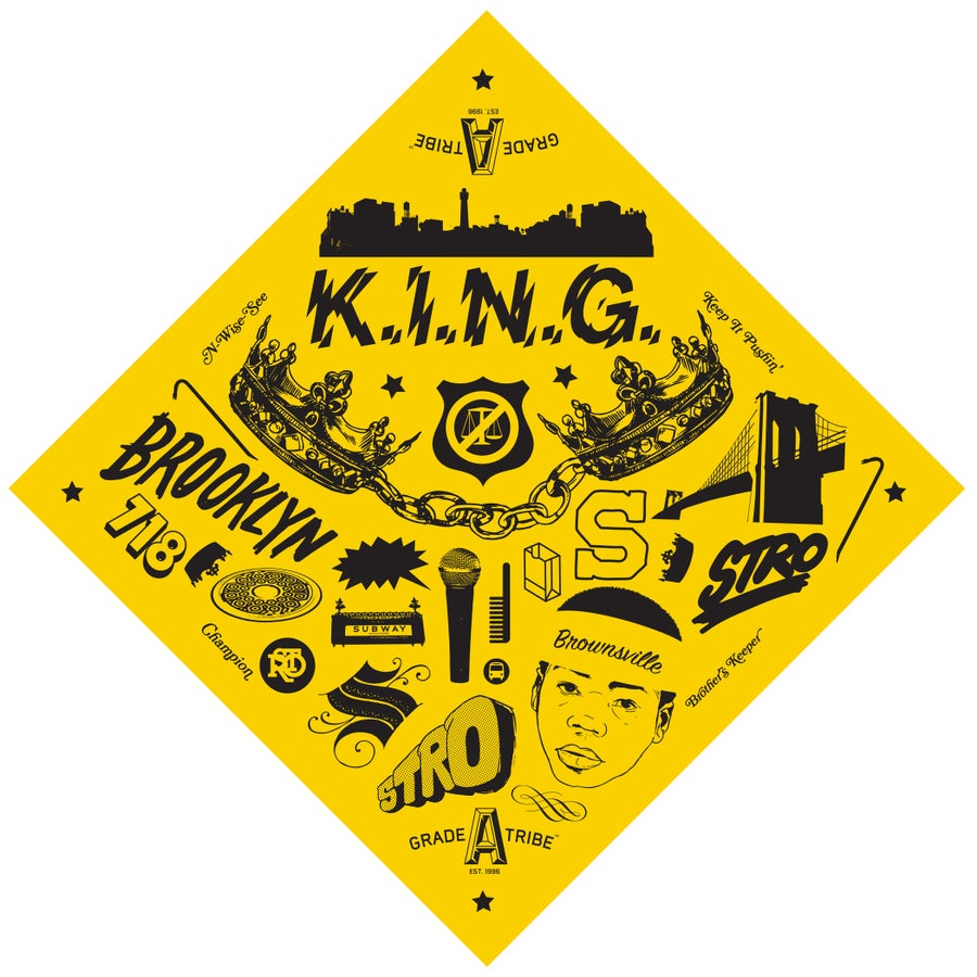 Image of K.I.N.G. Bandana (Gold)