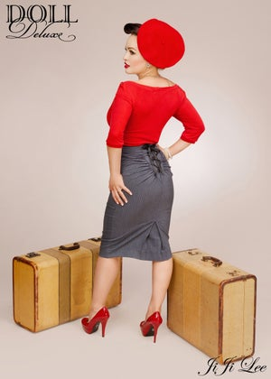 Image of Sweetheart Top/fiery red -3/4 sleeve