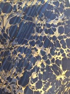 Image of Metallic Spanish Ripple on Blue base paper