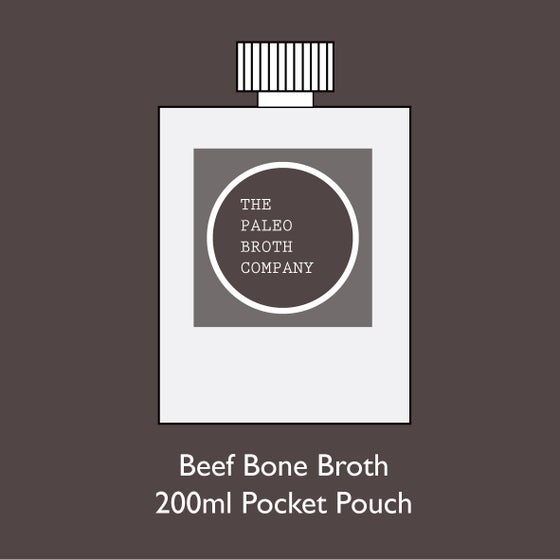 Image of Beef Bone Broth - Sample Single Pocket Pouch 200ml