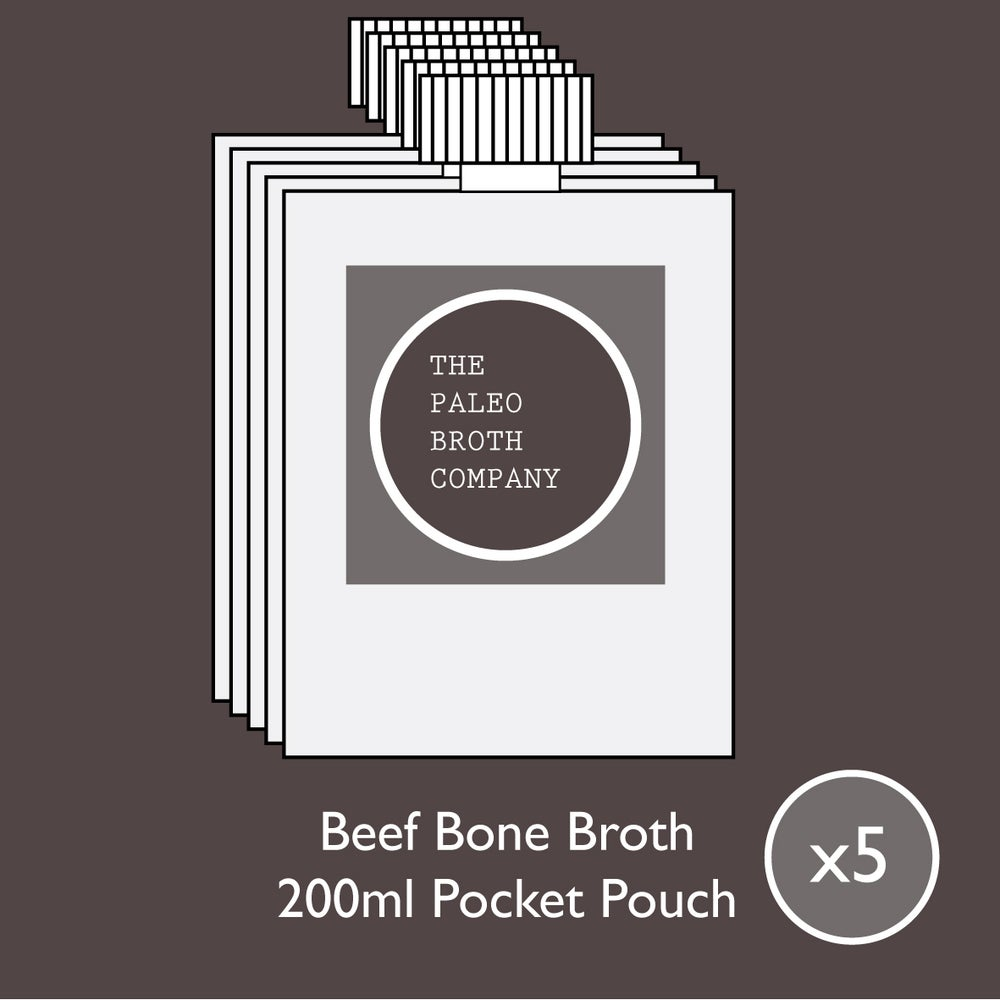 Image of Beef Bone Broth -  5 Working Days - 5x 200ml Pouches