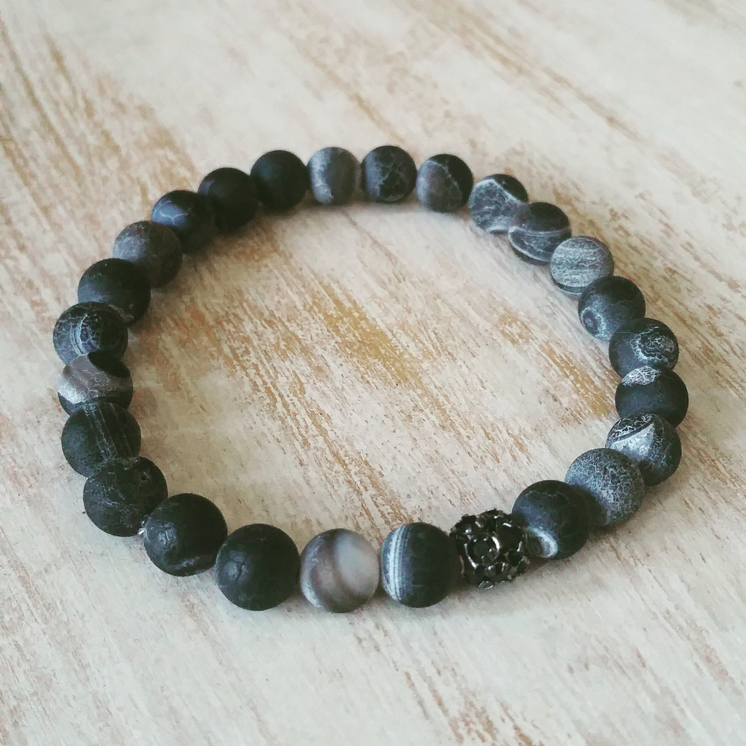 Image of CRACKLE BLACK BRACELET