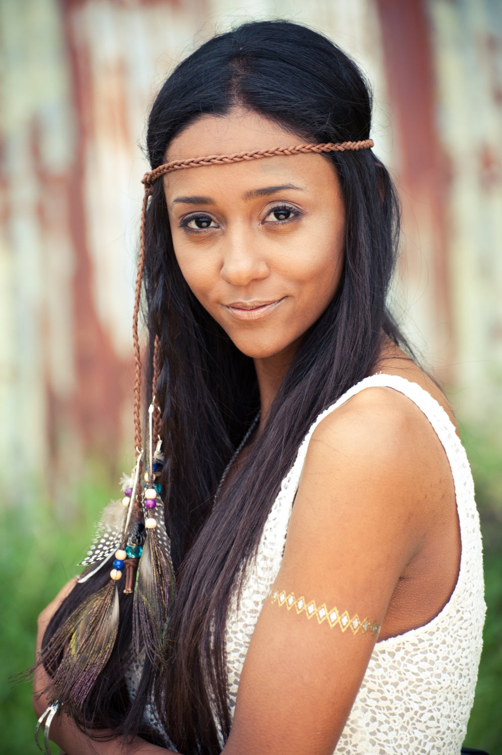 Image of Aiyana Feather Headdress - Natural colours