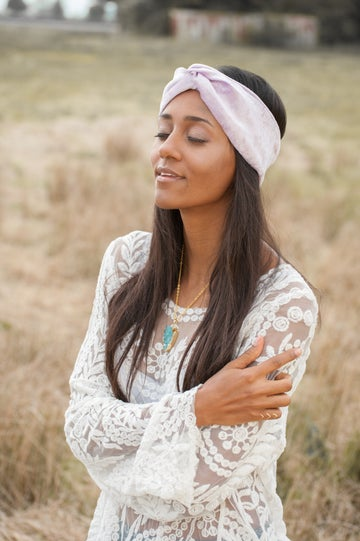 Image of Luxe Velvet Headband Pale Lilac